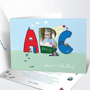Einladungen zur Einschulung - Das große ABC