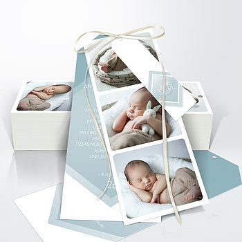 Taufkarten - Facetten Baby