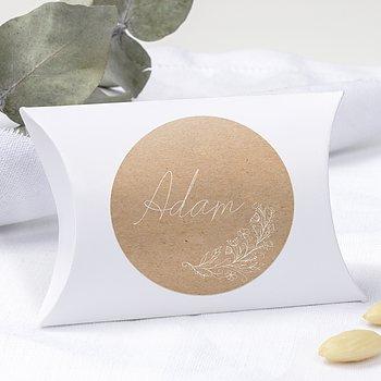 Geschenkaufkleber für Gastgeschenke - Zart erblüht