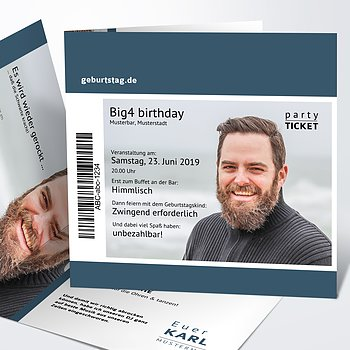 Geburtstagseinladungen - Party Ticket 40