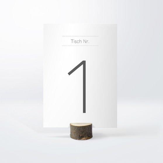 Tischnummern - Große Nummer