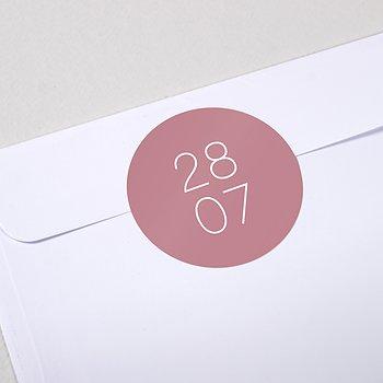 Umschlagssiegel - Große Nummer