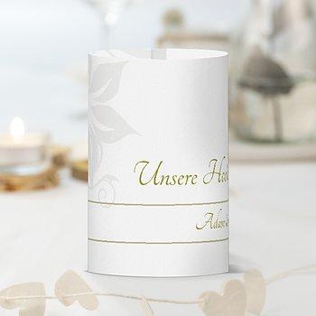 Windlicht als Tischdeko - Weiße Hochzeit