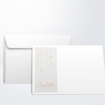 Umschlag mit Design  Baby - Sternengirlande