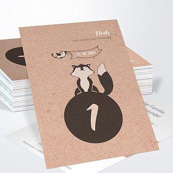 Einladungen für Kindergeburtstag - Foxy