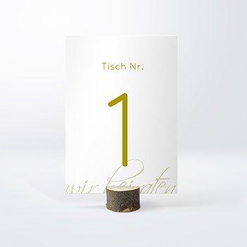 Tischnummern - Ja!