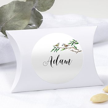 Geschenkaufkleber für Gastgeschenke - Liebesnest