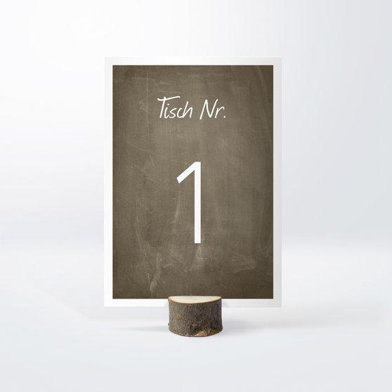 Tischnummern - Getäfelt