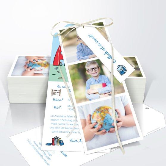 Das große ABC - Kartenset Trio 90x210 - Königsblau