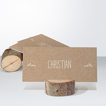 Tischkarten Hochzeit - Rustique