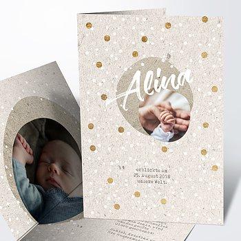 Geburtskarten - Goldtaler