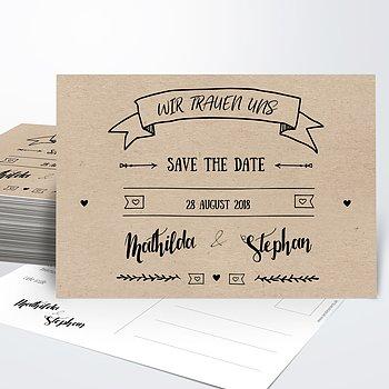 Save the Date - Kraftpapier