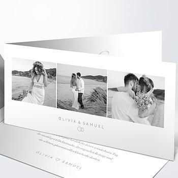 Danksagungskarte Hochzeit - Zarte Blicke