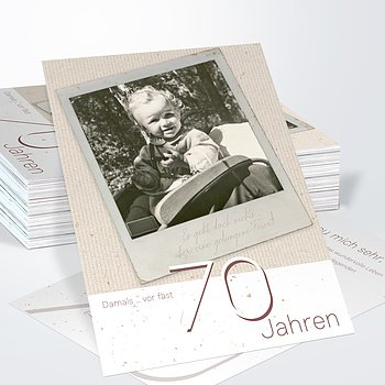 Geburtstagseinladungen - Gelungene Feier 70