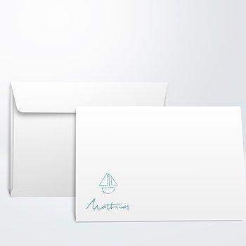 Umschlag mit Design Taufe - Schiffchen auf See