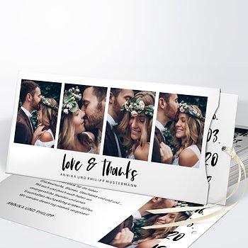 Danksagungskarte Hochzeit - Love & Joy