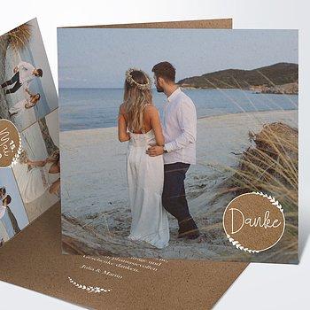 Danksagungskarte Hochzeit - Freudenfunkeln