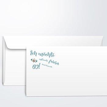Umschlag mit Design Geburtstag - Gaudi 60