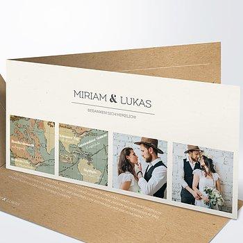 Danksagungskarte Hochzeit - Entdeckungsreise
