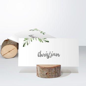 Tischkarten Hochzeit - Edles Grün