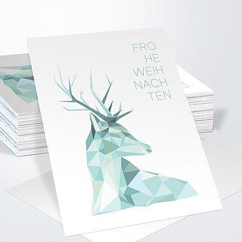 Weihnachtskarten Geschäftlich - Prachthirsch