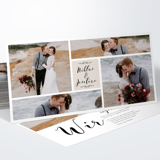 Danksagungskarte Hochzeit - Blühende Zeit