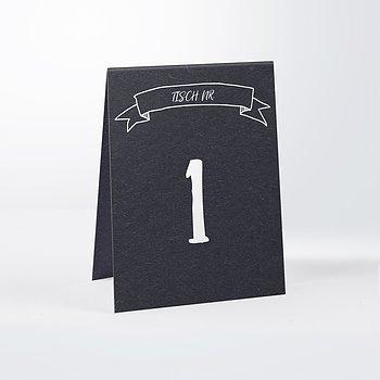 Tischnummern - Kraftpapier