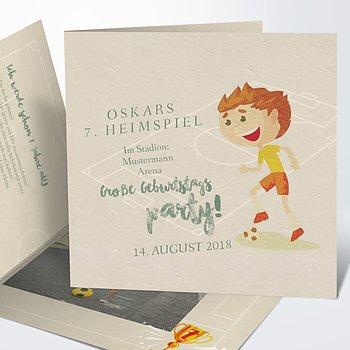 Einladungen für Kindergeburtstag - Heimspiel