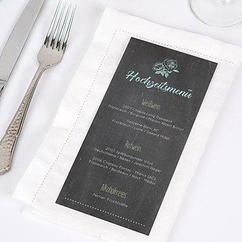 Menükarte Hochzeit - Ankündigung