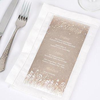 Menükarte Hochzeit - Zauberlicht