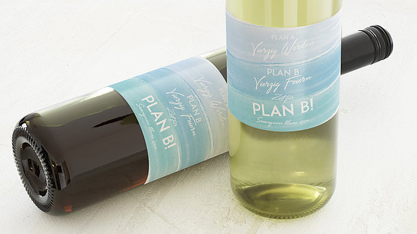 Weinetiketten Geburtstag - Plan B