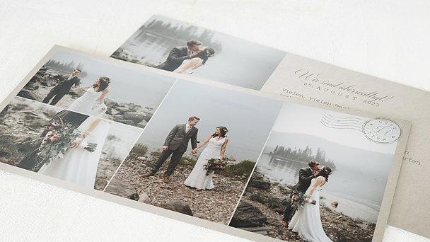 Danksagungskarte Hochzeit - Liebespost