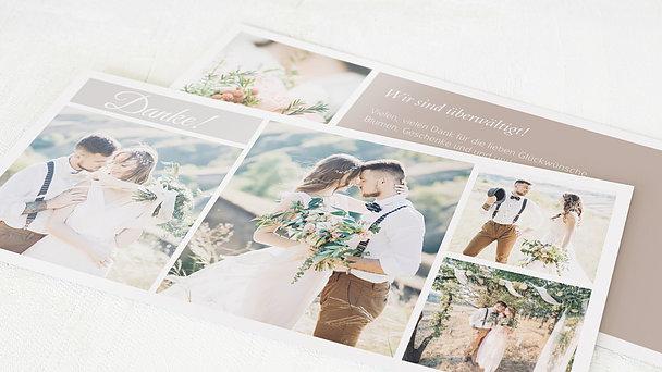 Danksagungskarte Hochzeit - Hochzeitscollage