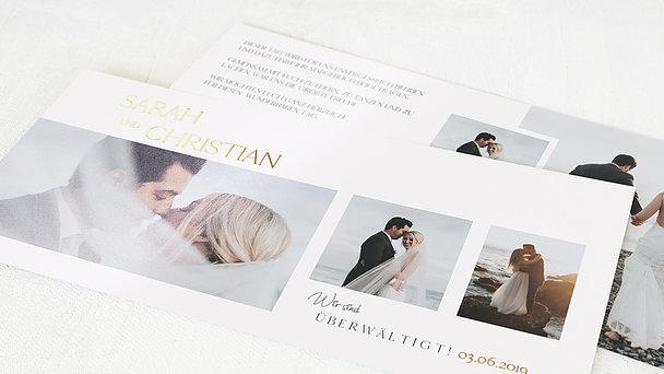 Danksagungskarte Hochzeit - Zarte Eleganz
