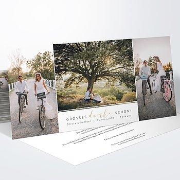 Danksagungskarte Hochzeit - Unforgettable Moments