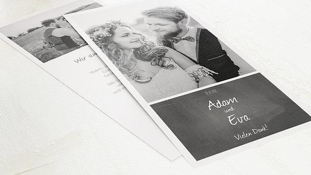 Danksagungskarte Hochzeit - Getäfelt