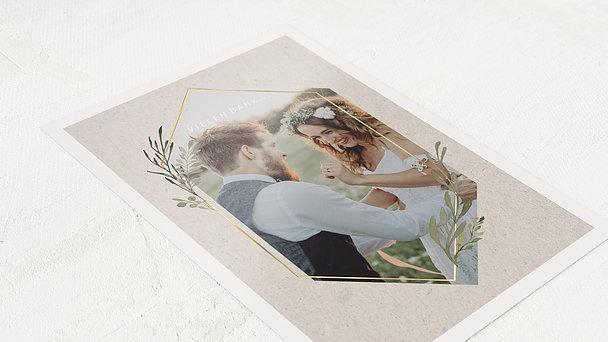 Danksagungskarte Hochzeit - Elegant gerankt