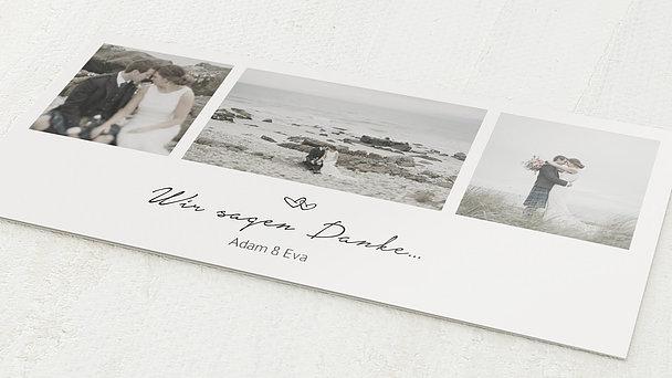 Danksagungskarte Hochzeit - Herzklopfen