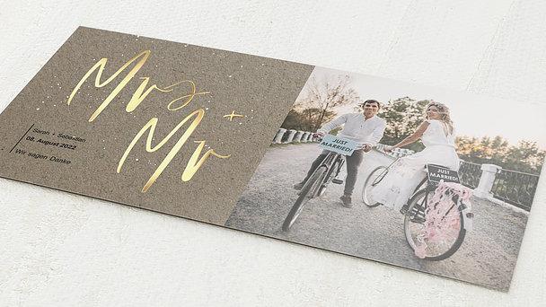 Danksagungskarte Hochzeit - Sternenfunkel
