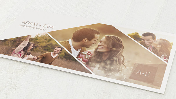 Danksagungskarte Hochzeit - Himmelwärts