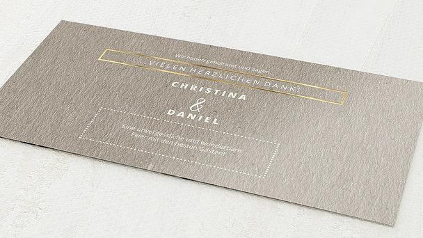 Danksagungskarte Hochzeit - Edelsamt