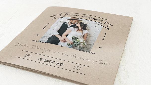 Danksagungskarte Hochzeit - Kraftpapier