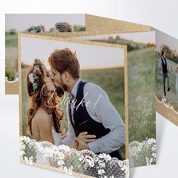 Danksagungskarte Hochzeit - Spitzentanz