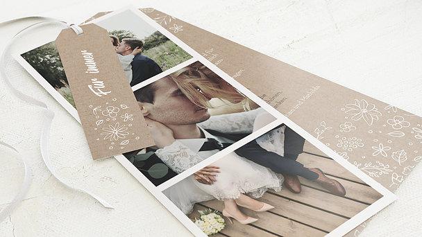 Danksagungskarte Hochzeit - Blumenstil
