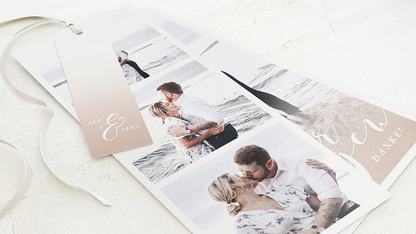 Danksagungskarte Hochzeit - Romantic sentiment