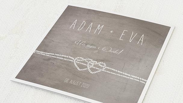 Danksagungskarte Hochzeit - Liebesknoten