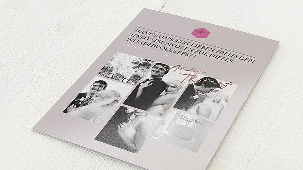 Danksagungskarte Hochzeit - Blush & Tiles