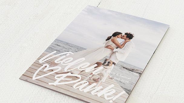Danksagungskarte Hochzeit - Großes Ereignis