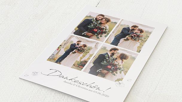 Danksagungskarte Hochzeit - Unvergesslich