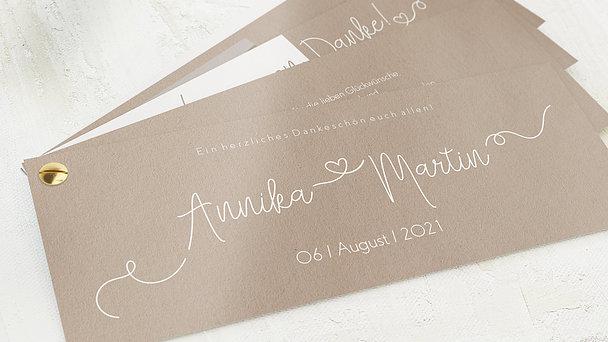 Danksagungskarte Hochzeit - Herzflug